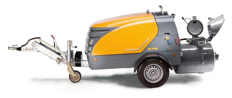 Пневмонагнетатель в аренду: Mixokret M 740 D, г.в. 2012